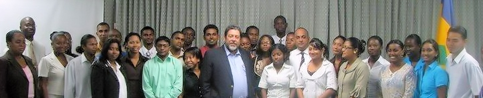 Guyana Students engaging the CSME (meeting with  PM Dr. Ralph Gonsalves)